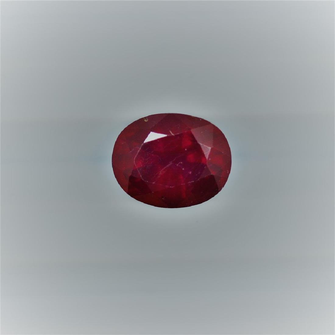 4.22 Carat Loose Ruby Oval cut