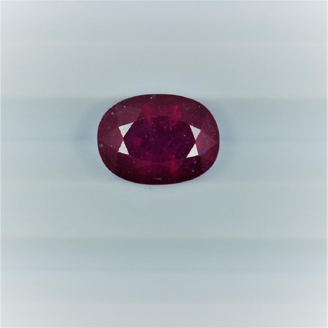 4.81 Carat Loose Ruby Oval cut
