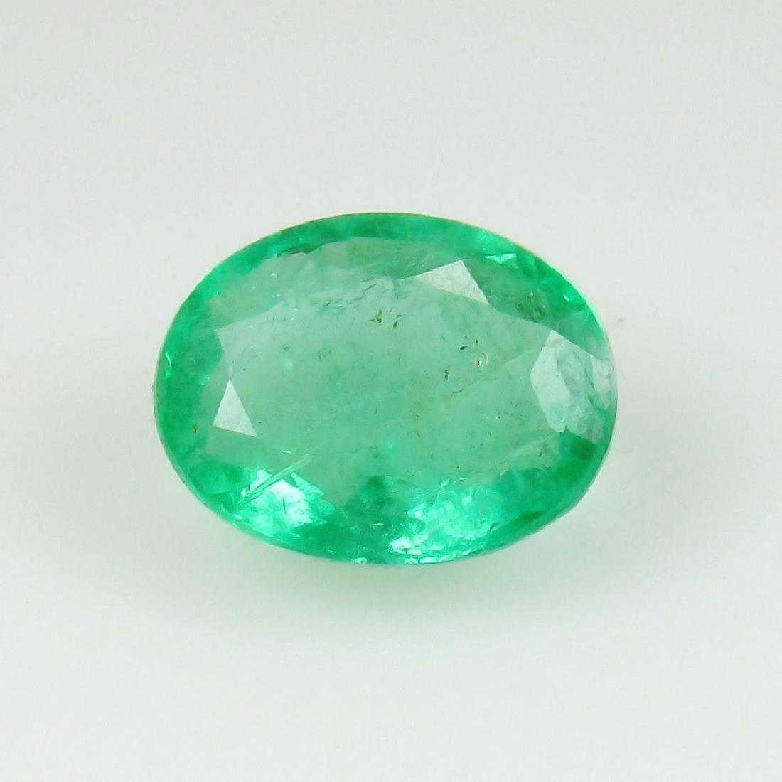 1.35 Carat Natural Zambian Loose Oval cut Emerald