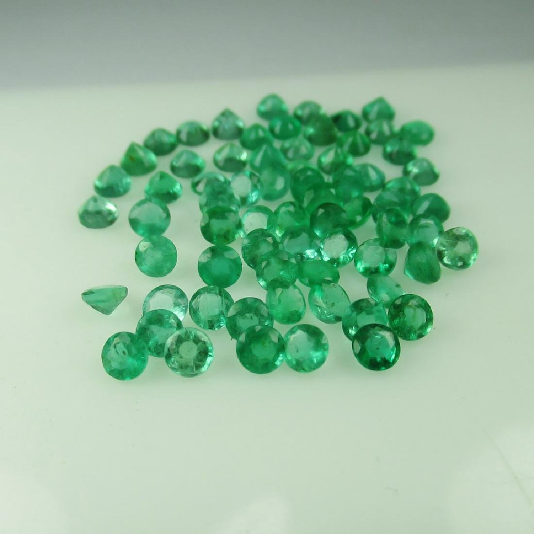 8.26 Carat 69 Loose 3 mm Round Calibrate Emeralds