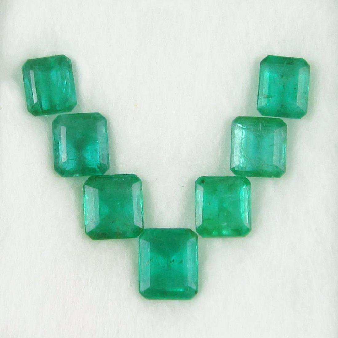 13.20 Carat 7 Loose Zambian Emerald Necklace Set