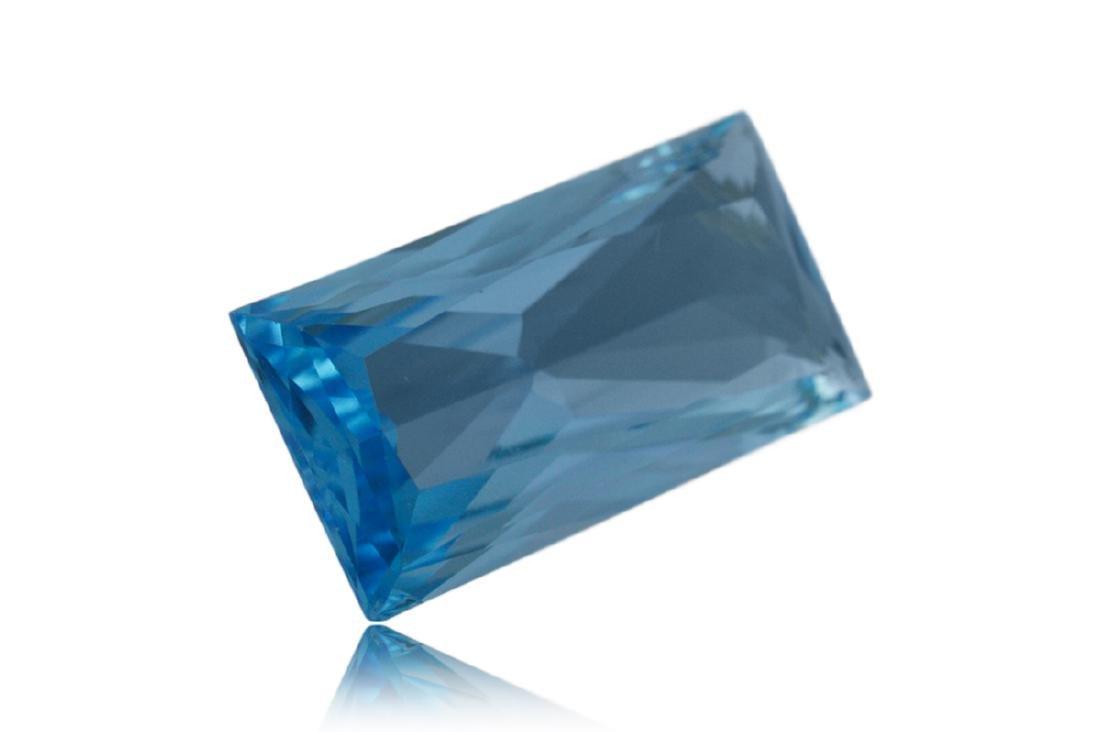 14.2 Carat Loose Rectangle Blue Topaz - 2