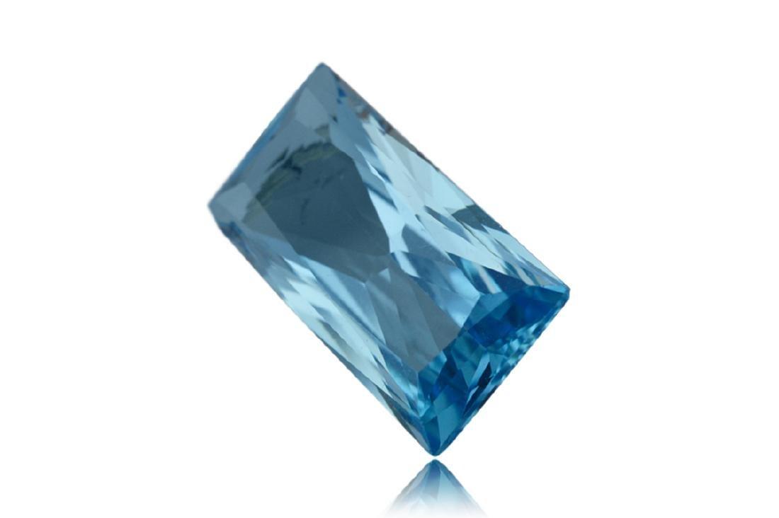 14.2 Carat Loose Rectangle Blue Topaz - 3
