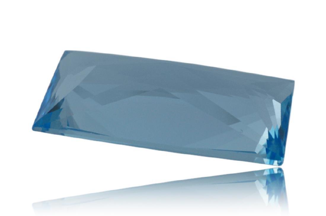 14.2 Carat Loose Rectangle Blue Topaz - 4