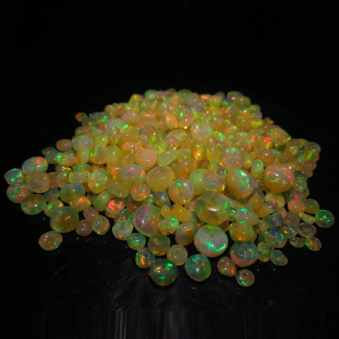 53.50 Carat Natural 330 Loose Honey Opal Beads