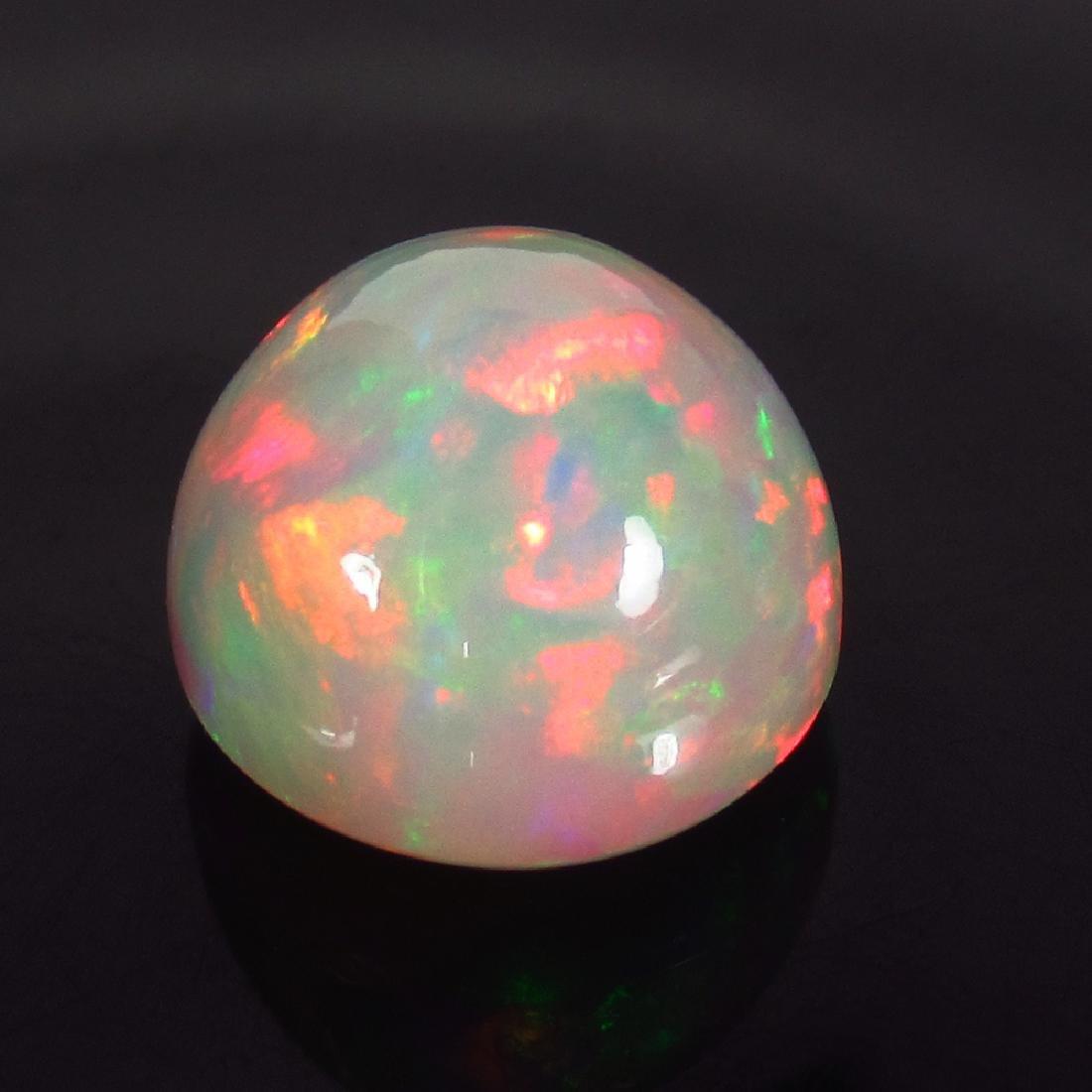 7.96 Carat Ethiopian Loose Round Cabochon Opal