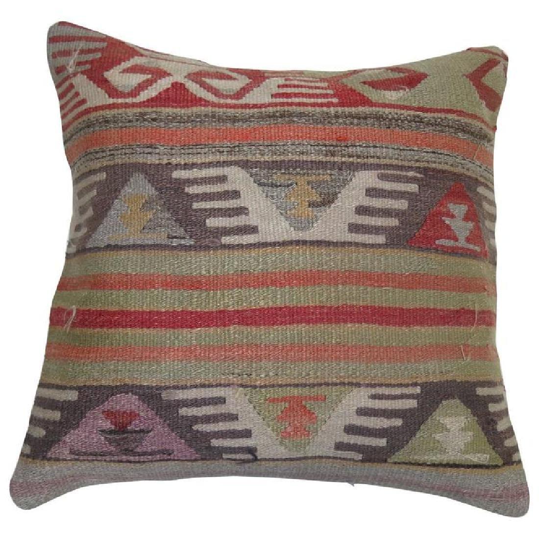 Turkish Kilim Rug Pillow 1.11x1.11