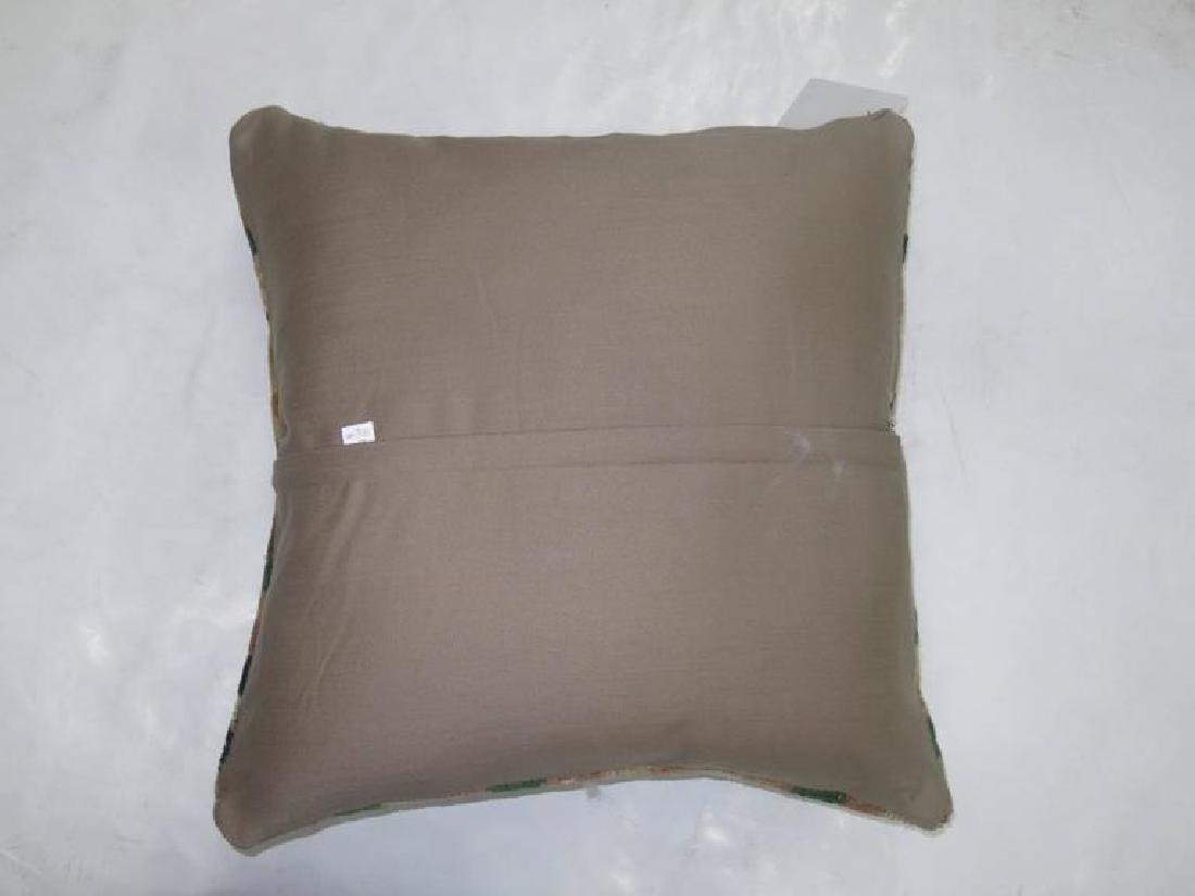 Turkish Checkerboard Rug Pillow 19''x20' - 2