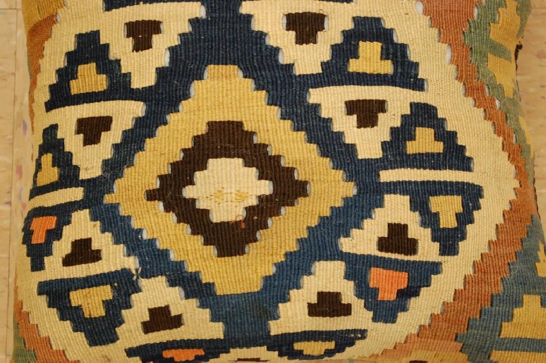 Antique Hand Made Caucasian Pillow Cushion Rug 1.4x1.4 - 2