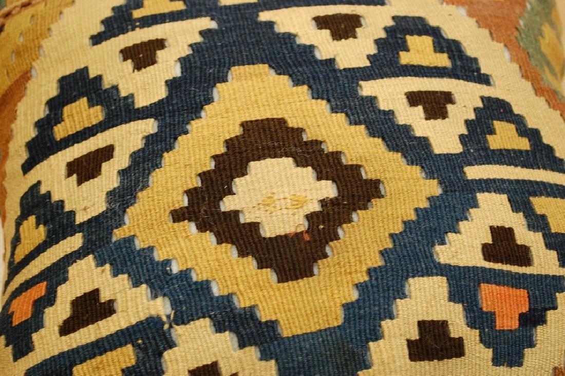 Antique Hand Made Caucasian Pillow Cushion Rug 1.4x1.4 - 3