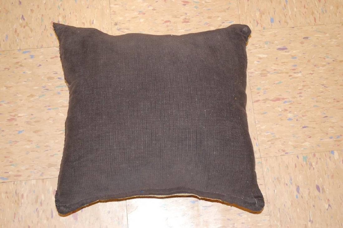 Antique Hand Made Caucasian Pillow Cushion Rug 1.4x1.4 - 5