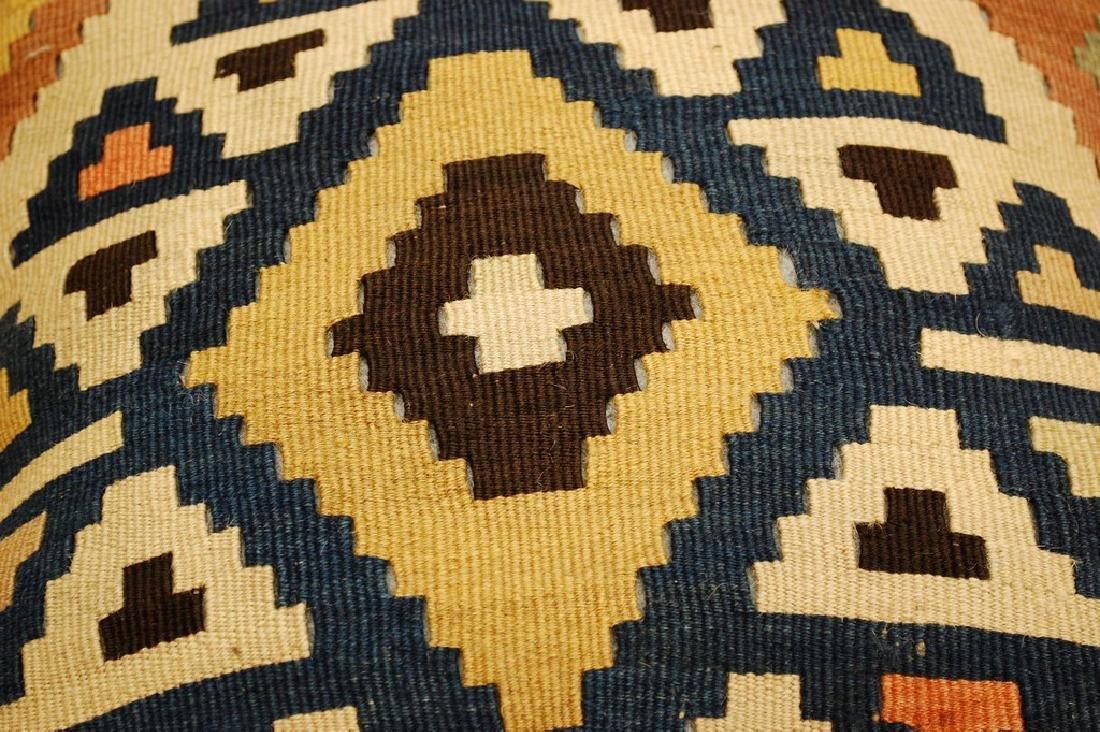 Antique Hand Made Caucasian Pillow Cushion Rug 1.4x1.4 - 4