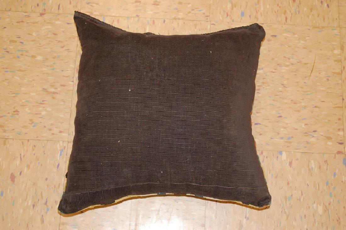 Antique Hand Made Caucasian Pillow Cushion Rug 1.4x1.4 - 6