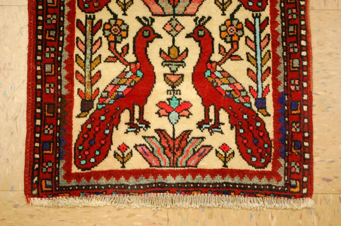 Bird Subject Design Persian Balouch Rug Runner 1.7x2.10 - 2
