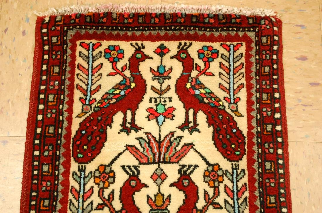 Bird Subject Design Persian Balouch Rug Runner 1.7x2.10 - 3