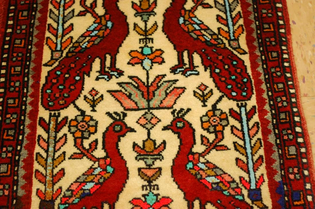 Bird Subject Design Persian Balouch Rug Runner 1.7x2.10 - 4