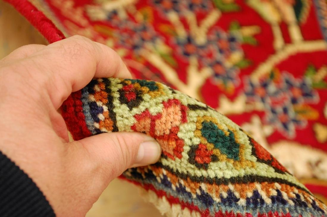 Detaled Persian Tabriz Rug 1.7x2.3 - 5