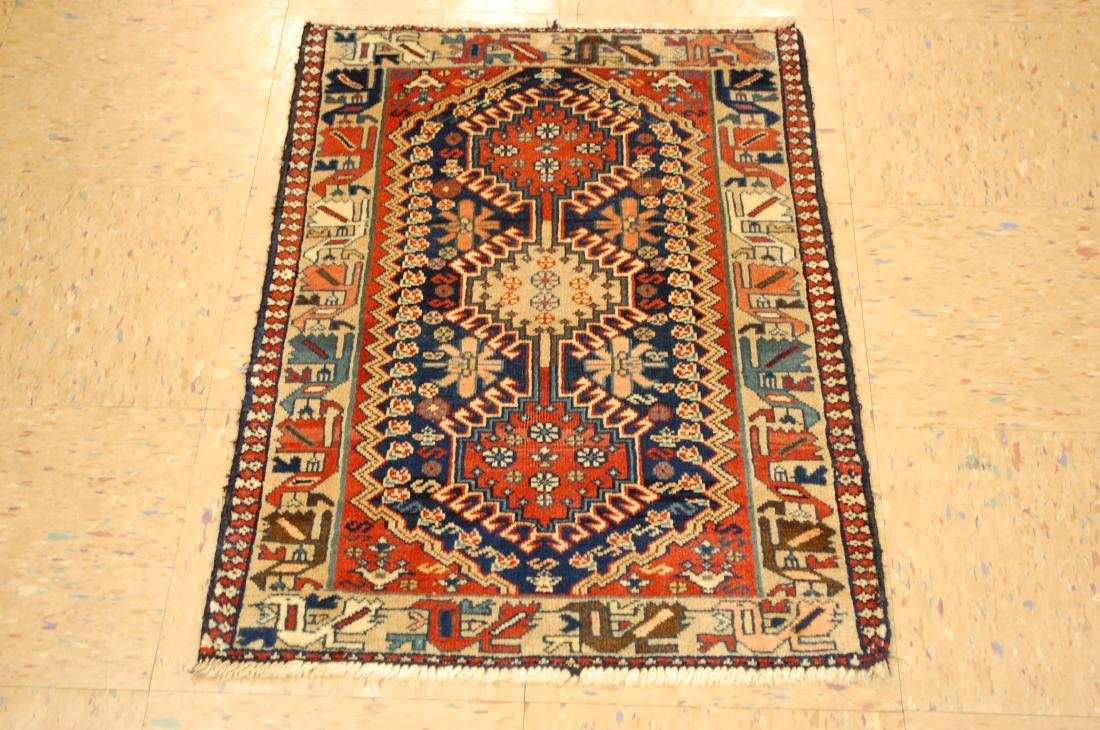 Persian Shiraz Qashkai Folklore Bird Rug 1.10x2.10