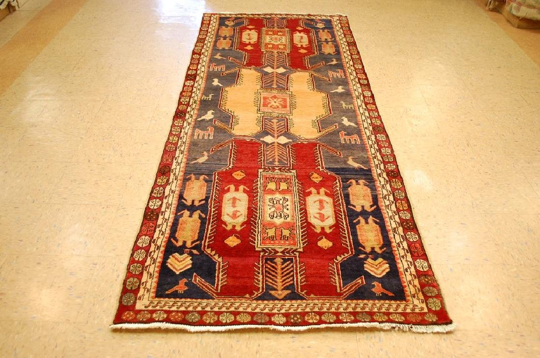 Caucasian Lankoran Kazak Design Runner Rug 3.9x10