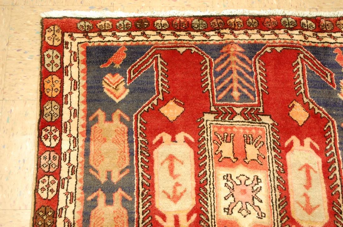 Caucasian Lankoran Kazak Design Runner Rug 3.9x10 - 4