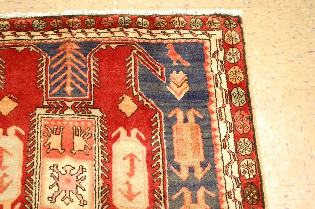 Caucasian Lankoran Kazak Design Runner Rug 3.9x10 - 5