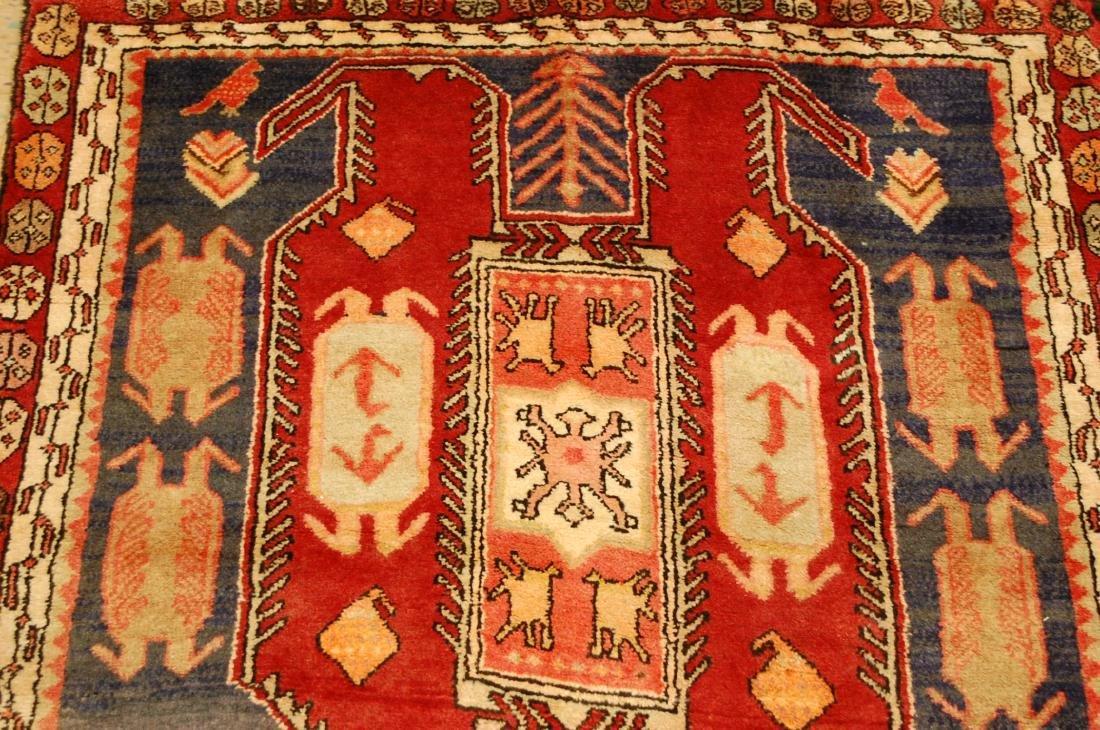 Caucasian Lankoran Kazak Design Runner Rug 3.9x10 - 6