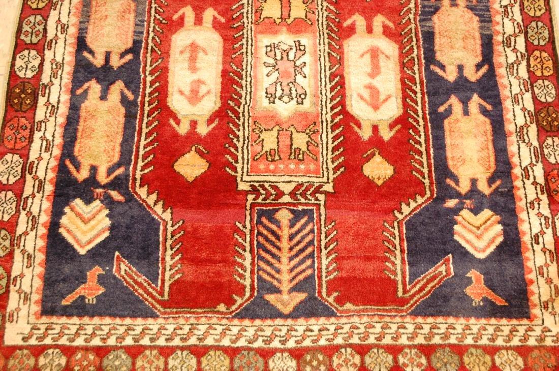 Caucasian Lankoran Kazak Design Runner Rug 3.9x10 - 7
