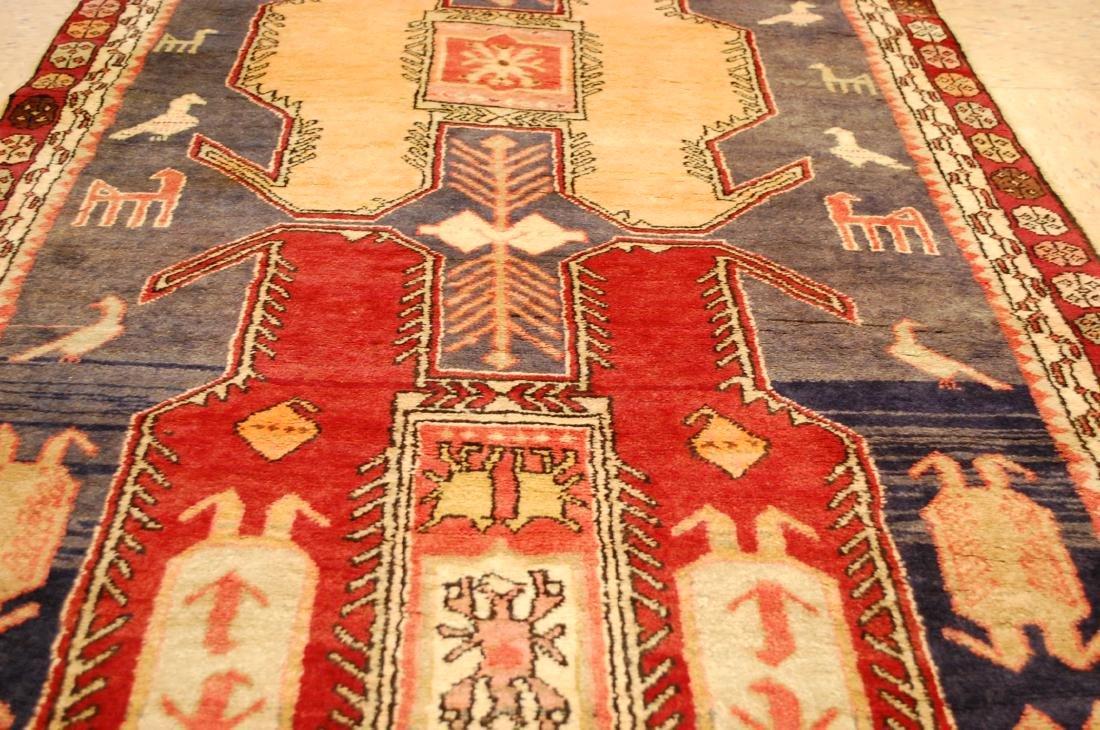 Caucasian Lankoran Kazak Design Runner Rug 3.9x10 - 8