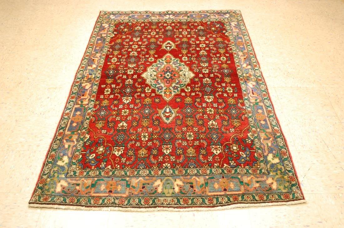 Highly Detailed Herati Design Persian Sarouk Rug 4.1x7