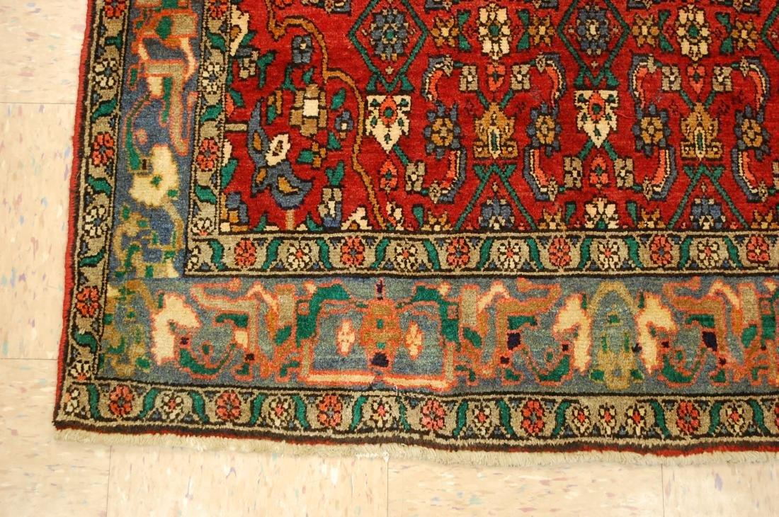 Highly Detailed Herati Design Persian Sarouk Rug 4.1x7 - 3