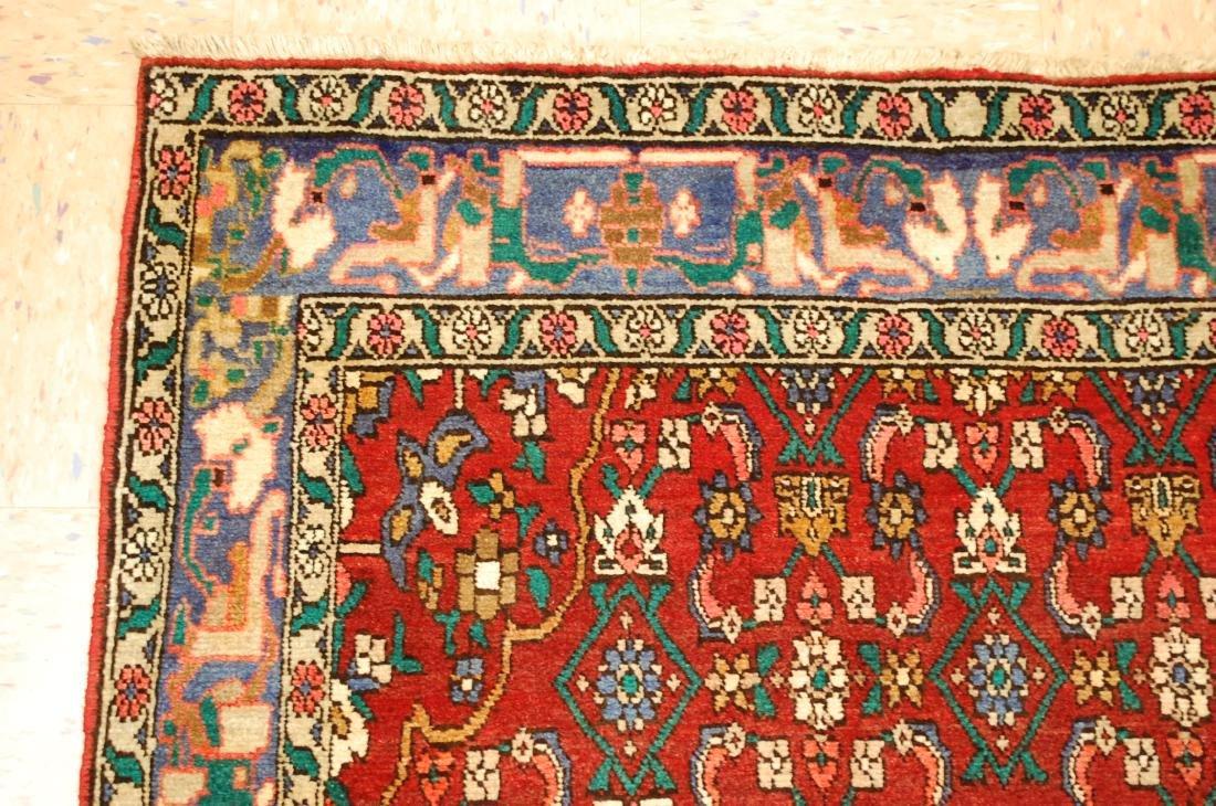 Highly Detailed Herati Design Persian Sarouk Rug 4.1x7 - 4