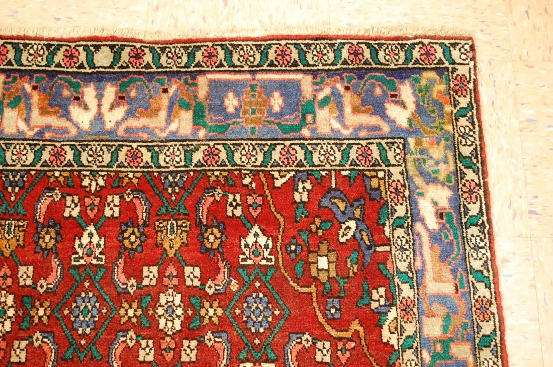 Highly Detailed Herati Design Persian Sarouk Rug 4.1x7 - 5