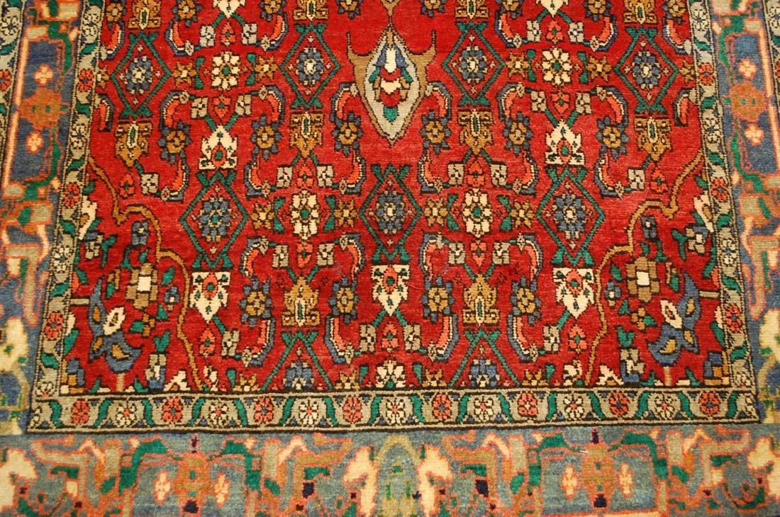 Highly Detailed Herati Design Persian Sarouk Rug 4.1x7 - 6