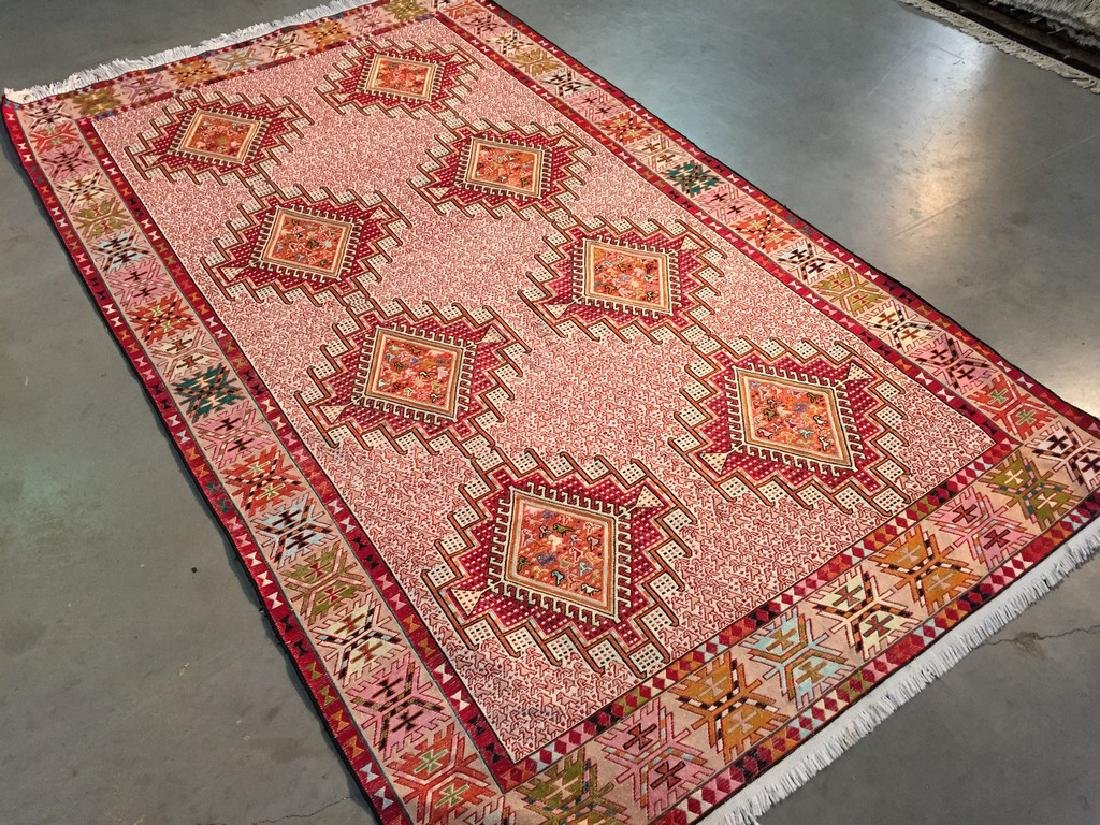 Persian Silk Kilim Rug 4x7 - 2