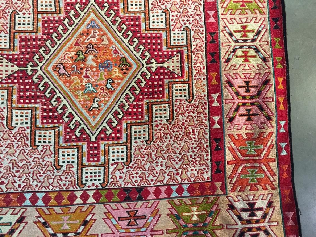 Persian Silk Kilim Rug 4x7 - 3