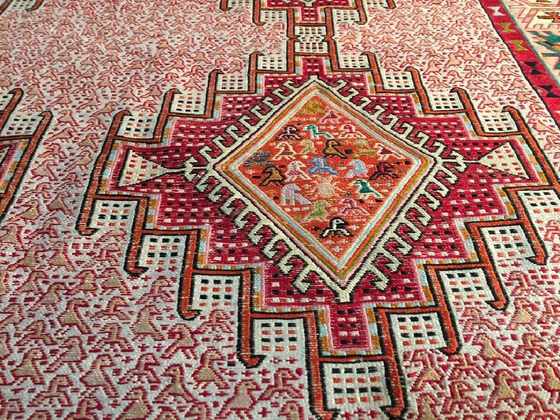 Persian Silk Kilim Rug 4x7 - 4