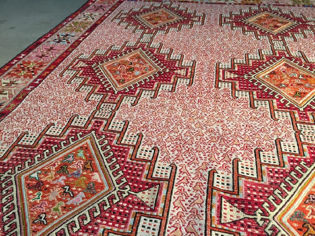 Persian Silk Kilim Rug 4x7 - 5
