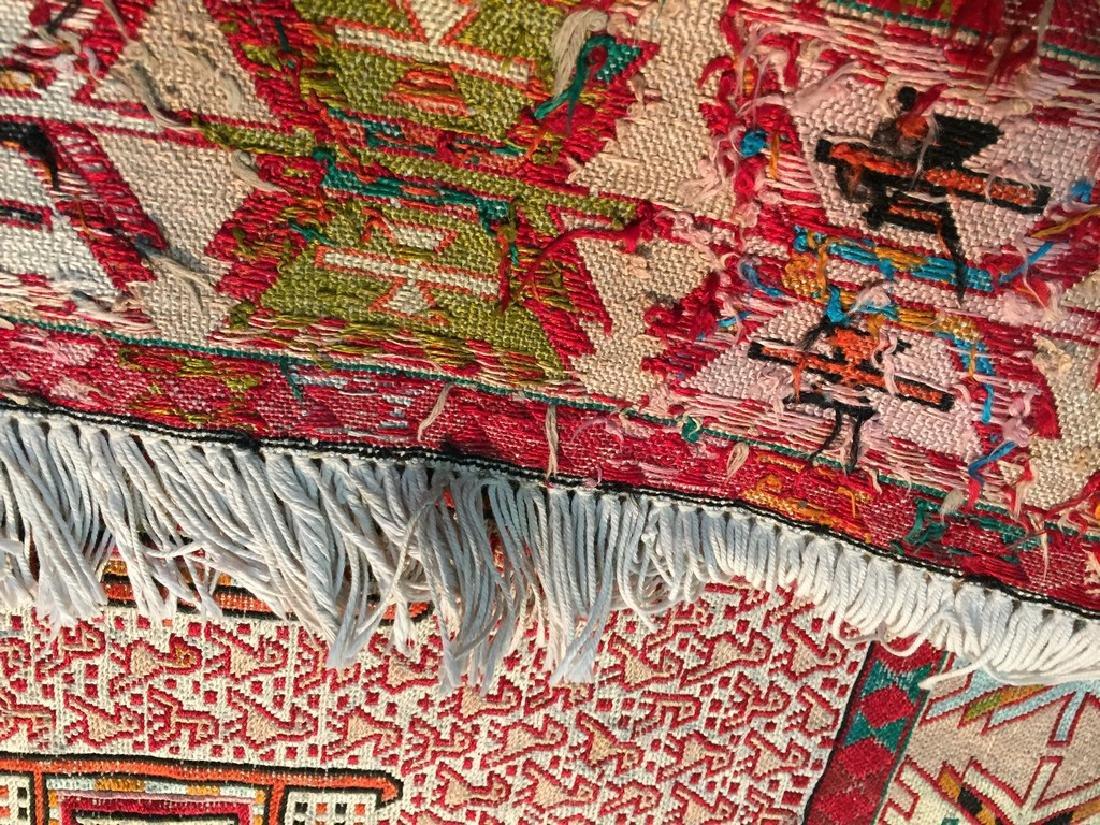Persian Silk Kilim Rug 4x7 - 8