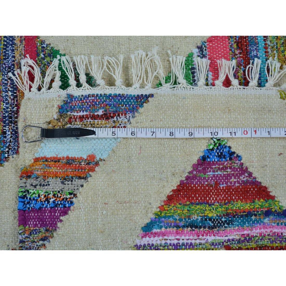 Durie Kilim Wool & Sari Silk Flat Weave Rug 5x7.2 - 5