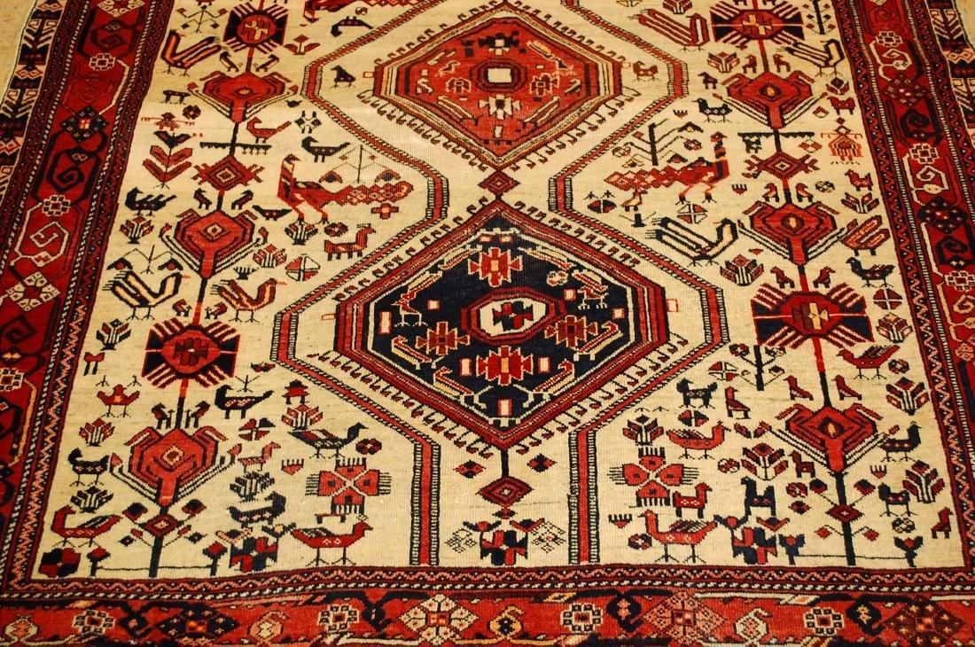 Persian Shiraz Fyrdoos Folklore Animal Rug 5.6x6.10 - 10