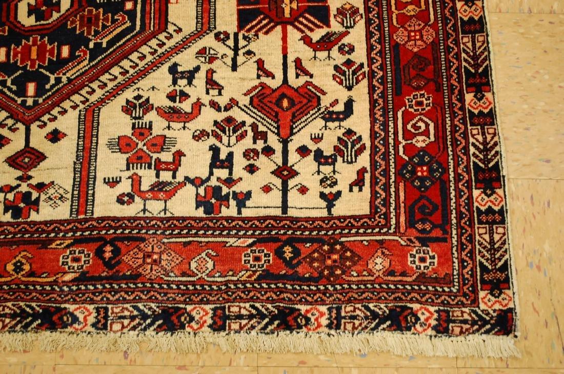 Persian Shiraz Fyrdoos Folklore Animal Rug 5.6x6.10 - 2