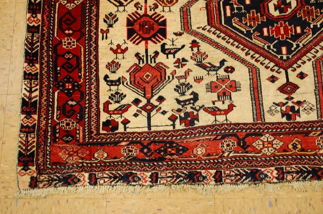 Persian Shiraz Fyrdoos Folklore Animal Rug 5.6x6.10 - 3