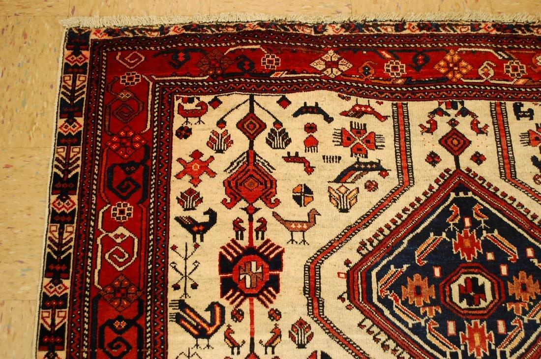 Persian Shiraz Fyrdoos Folklore Animal Rug 5.6x6.10 - 4