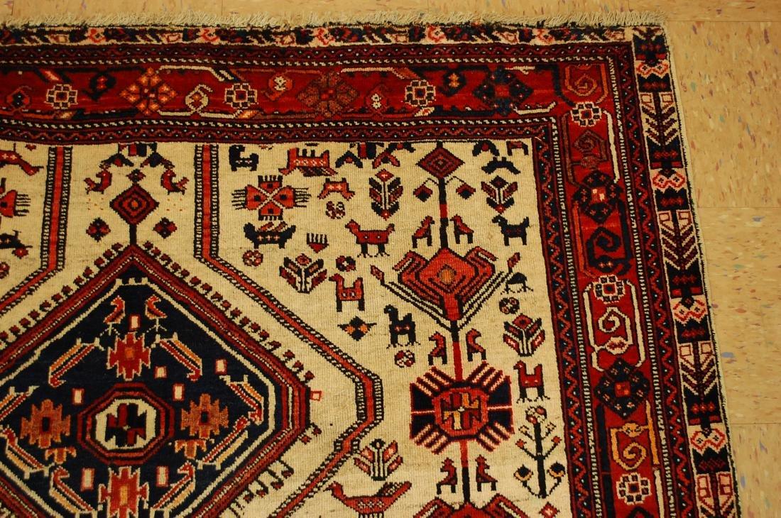 Persian Shiraz Fyrdoos Folklore Animal Rug 5.6x6.10 - 5