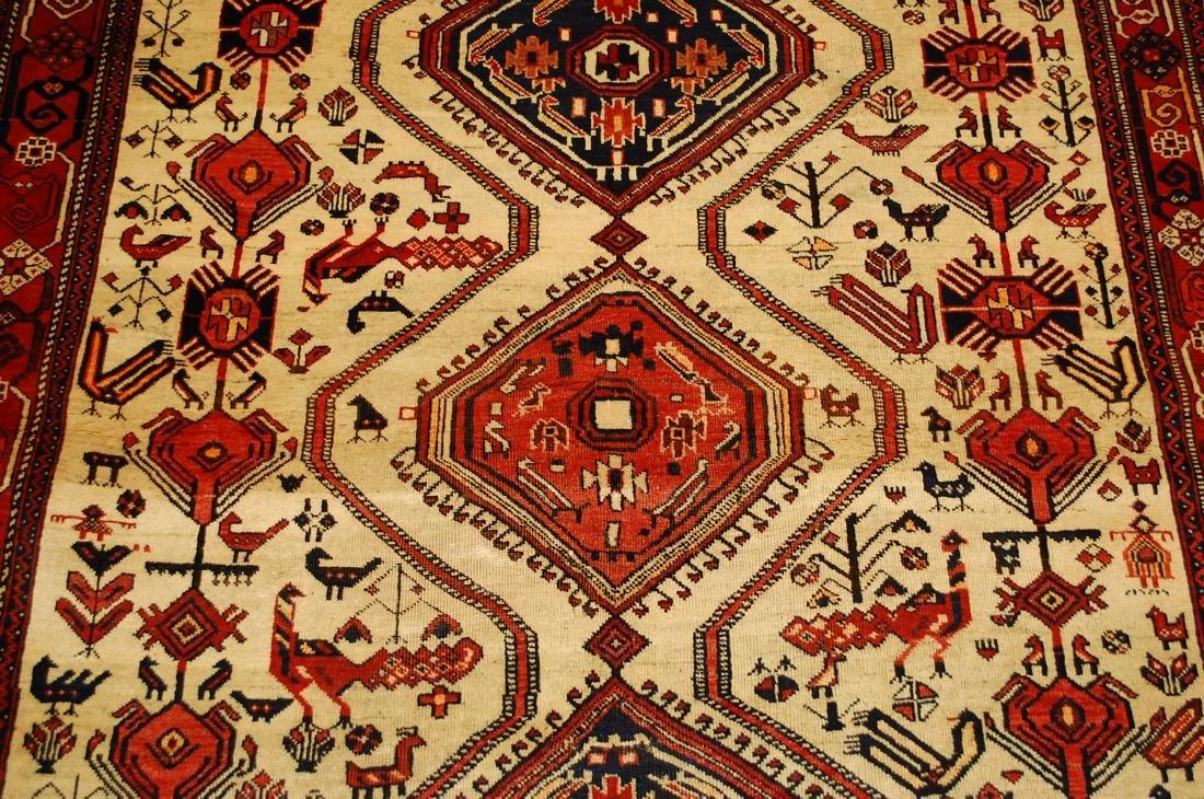 Persian Shiraz Fyrdoos Folklore Animal Rug 5.6x6.10 - 6