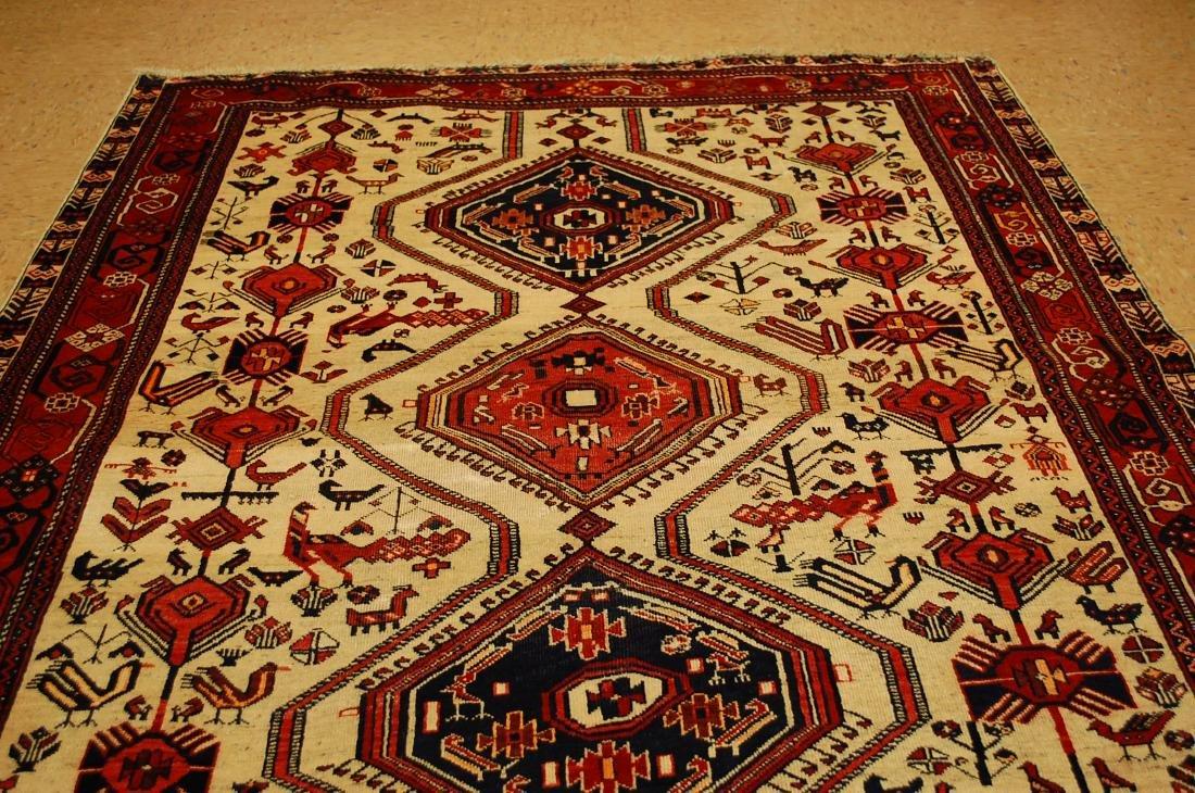 Persian Shiraz Fyrdoos Folklore Animal Rug 5.6x6.10 - 7
