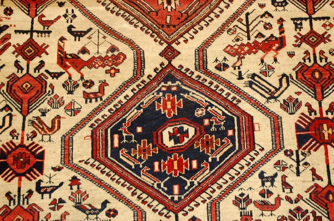 Persian Shiraz Fyrdoos Folklore Animal Rug 5.6x6.10 - 8