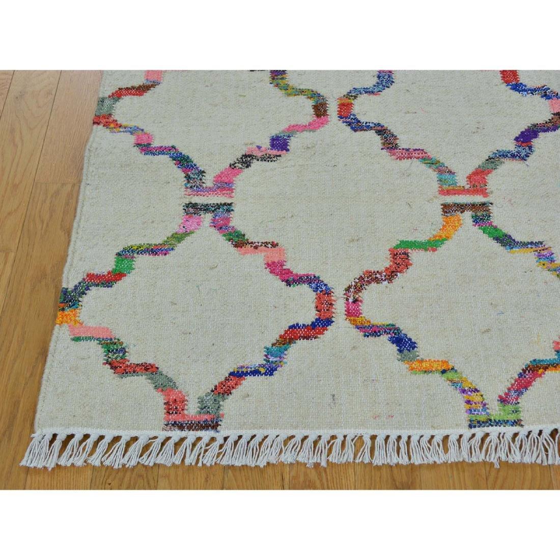 Durie Kilim Wool & Sari Silk Hand Woven Rug 5.2x7.1 - 3