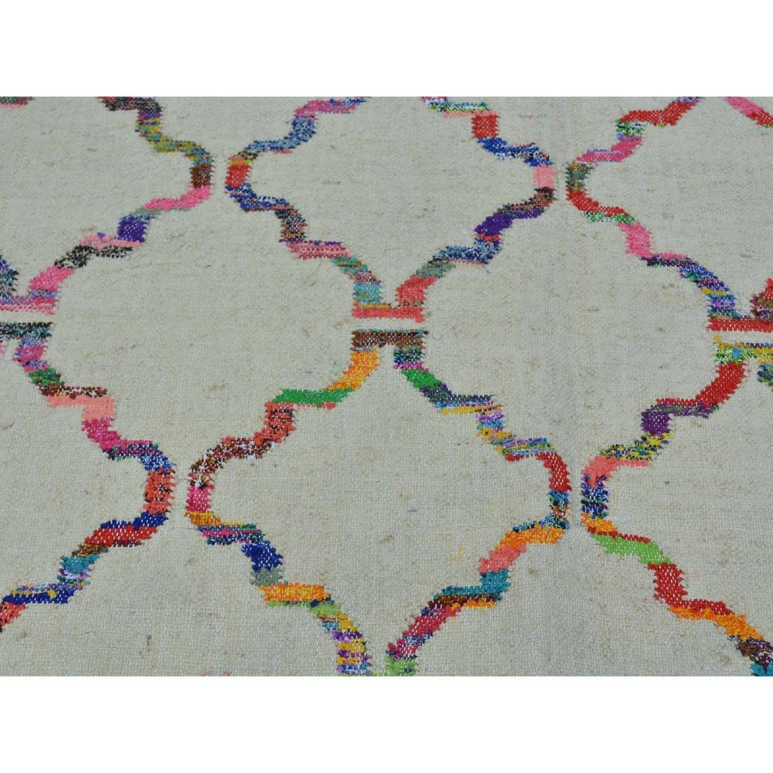 Durie Kilim Wool & Sari Silk Hand Woven Rug 5.2x7.1 - 4