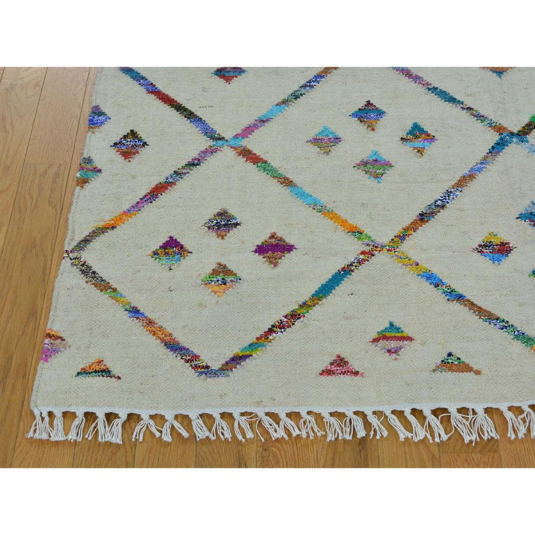 Handmade Geometric Durie Kilim Rug Wool and 5x7.4 - 3